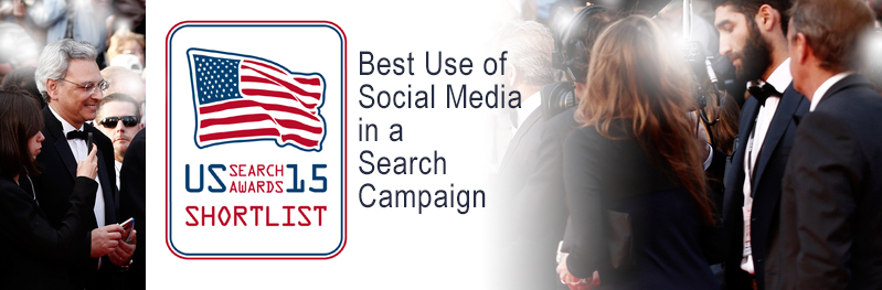 US Search Award Finalist for Best Use of Social Media in Search Campaign
