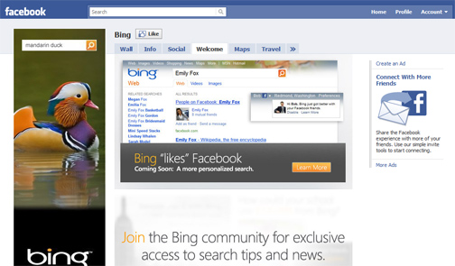 Bing to Use Facebook Like Buttons in Organic Search Engine Results