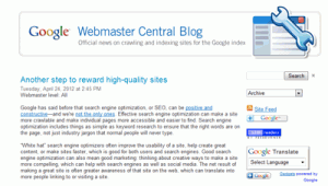 Google on Penguin Update and Rewarding White SEO and Quality Websites