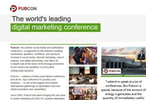 Pubcon is the Worlds Leading Digital Marketing Conference